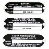 Engine & Chassis Plates