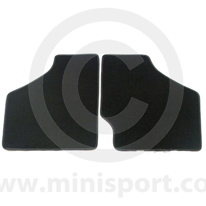 Black Floor Mats - Austin Mini to 73