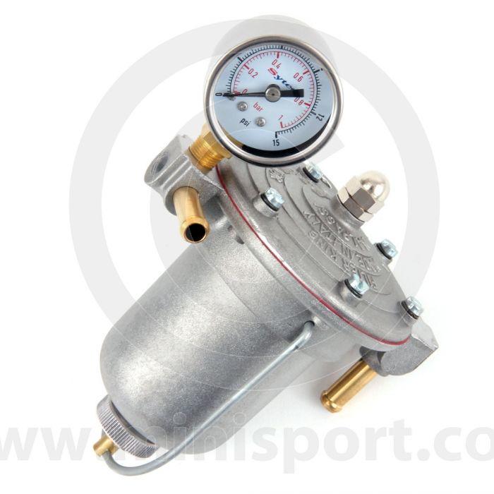 Classic Mini Facet Fuel Pressure Regulator & Gauge