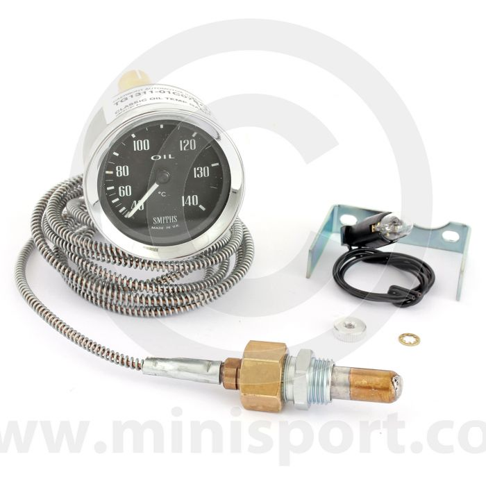 SMITG131101-C078 Smiths Classic Mechanical oil temperature gauge has a range of 40-140° degrees C and comes with black face and chrome bezel.