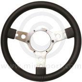 """Sport Steering Wheel - 14"""" - Black Vinyl"""