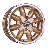 5 x 13 Minilight Wheel - Gold/Polished Rim