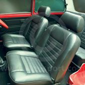 Seat Covers F/R Fixed Back - Front Foams & Diaphragms - Cloth Black - Mini 73-75
