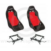 Cobra Clubman Seat Package - Black/Red Centre