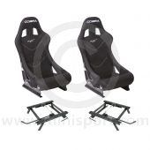 Cobra Monaco Pro Seat Package - Black