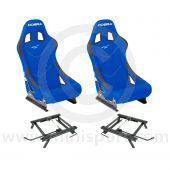 Cobra Monaco Pro Seat Package - Blue