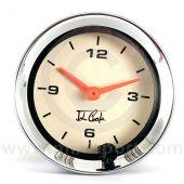 MCPIS.CA1100.02C John Cooper Analogue Clock - Magnolia and Chrome