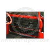 Door Panels - Pair - Lightning - Black Red - Mini 90-95