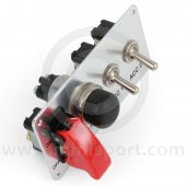 Competition Starter Panel - Push button - 2 accessory switches - 30amp