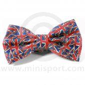 Silk Bow Tie - Pre-Tied with Union Jack design