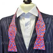 Silk Bow Tie Self-Tie With Union Jack design