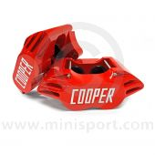 """Cooper 8.4"""" Vented 4 pot Alloy Caliper and Pad Kit - Painted Red"""