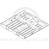 MCR11.33.00.00 Complete floor assembly, round shaped tunnel, Mini Mk1 models.
