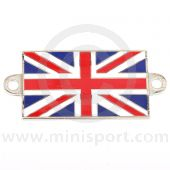 Enamel Union Jack A Panel Badge - Self Adhesive