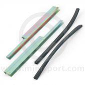 Door Glass Support Rails with Rubbers - One door