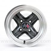Revolution Black 6'' x 12'' Wheel - Deep Dish