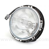Complete Headlamp Assembly UK/Japan (RHD), with rim, without motor