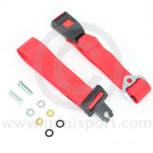 Securon Rear Static 2 Point Lap Seat Belt - Red