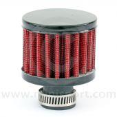 Mini Sport Crankcase Breather Filter - Black