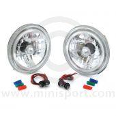 Mini Headlights Crystal style with Angel Eye