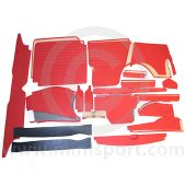 32 Piece Interior Panel Kit for Mini Traveller 62-70 with Round Speedo