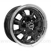 5 x 12 Minilight Wheel - Black/Polished Rim