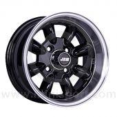 6 x 12 Minilight Wheel - Black/Polished Rim