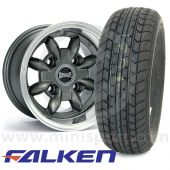 """6"""" x 10"""" anthracite Ultralite alloy wheel and Falken FK07-E tyre package"""