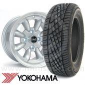 "WTP7X13KIT1 7"" x 13"" silver Ultralite alloy wheel and Yokohama A539 tyre package"