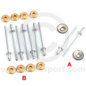 13H743SET 10 x Rivets for door moulding (14A9774 LH, 14A9773 RH) on Mini Mk1-2 models
