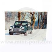 greetings card featuring a green Rover Mini Cooper Sportspack