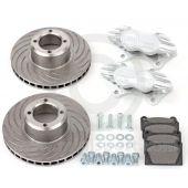 "Cooper 7.9"" Vented 4 pot Alloy Caliper Brake Conversion Road Kit - Silver"