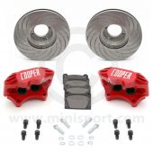 "Cooper 8.4"" Vented 4 pot Alloy Caliper Brake Conversion Road Kit - Special Edition Painted Red"