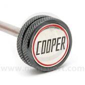Classic Mini Cooper Knurled and Badged Dipstick - Black