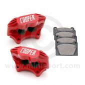 "Cooper 8.4"" Vented 4 pot Alloy Caliper and Pad Kit - Painted Red"