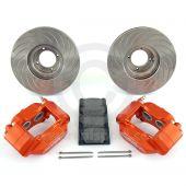 Orange 8.4'' Mini Sport Vented Brake Kit with Alloy Brake Calipers