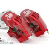 "Paddy Hopkirk 12"" to 10"" 4 pot Alloy Caliper Brake Conversion Road Kit - Red"