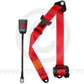 Red webbing, front automatic seat belt with the 45cm buckle by Securon
