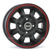 "5 x 12"" Ultralite Mini Wheel - Black with Red Pinstripe"