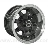 6 x 10 Minilight Wheel - Black/Polished Rim