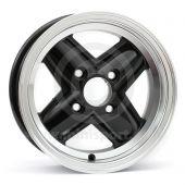 5 x 12 Revolite Wheel - Black/Polished Rim