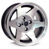 7 x 13 Starmag Alloy Wheel - Diamond/ Black