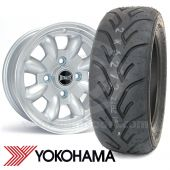 "5.5"" x 12"" silver Ultralite alloy wheel and Yokohama A048 tyre package"