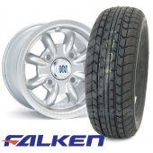 "6"" x 10"" silver original Minilite alloy wheel and Falken FK07E tyre package"