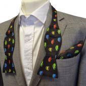 Silk Bow Tie - Self-Tie with Pocket Square - Classic Mini design