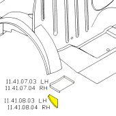 RH Closing Panel Filler Segment - Mini Saloon