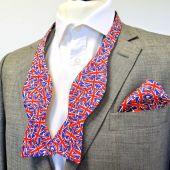 Silk Bow Tie - Self-Tie with Pocket Square - Union Jack design