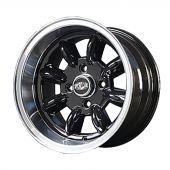 7 x 13 Superlight Split Rim Wheel - Black/Polished Rim
