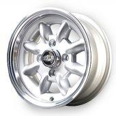 5 x 12 Superlight Wheel - Silver/Polished Rim