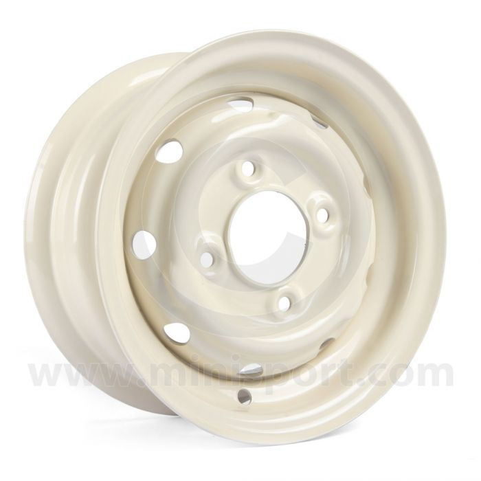 Cooper S Steel Wheel in Old English White - 4.5